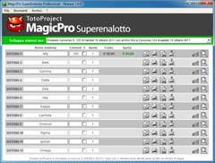 Schermata del software MagicPro SuperEnalotto