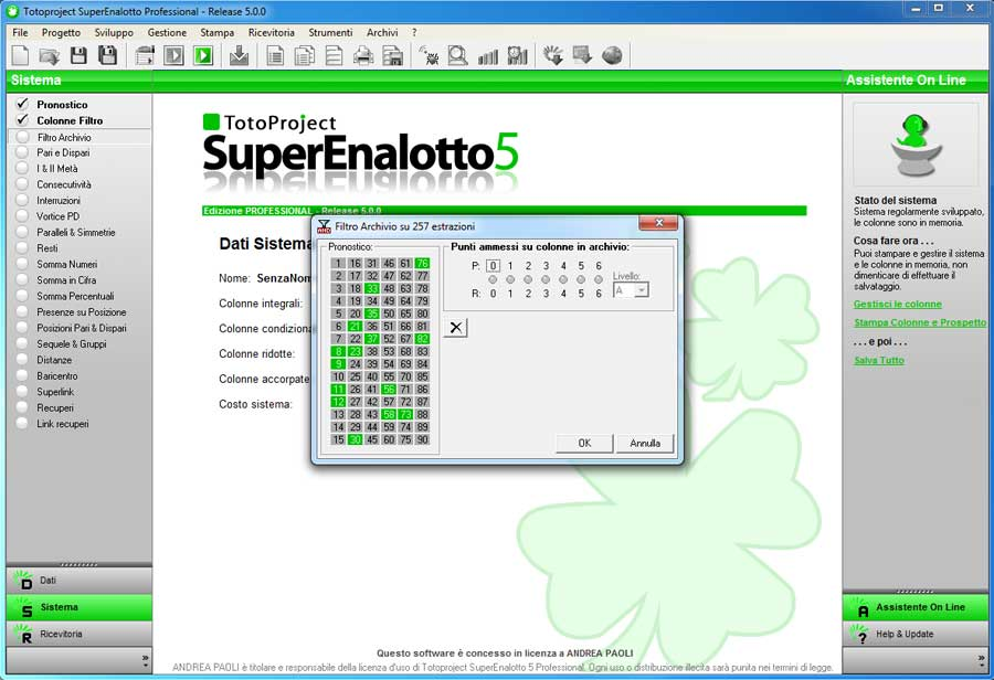 software lotto gratuiti
